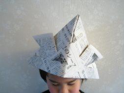 新聞紙で兜(かぶと)を作ろう!