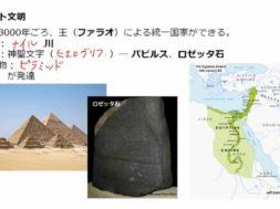 【歴史01-01】四大文明を学ぶーエジプト文明