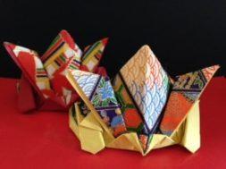 立体的で飾れる和紙でつくる「かぶと(兜)」