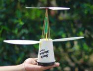 コンビニなどのコーヒーカップで作るヘリコプター