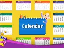 Calendar – Months and Days <Kids vocabulary>