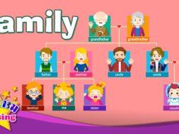 <Kids vocabulary> Family, family members & tree 家族と家系