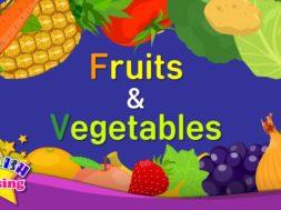 <Kids vocabulary> Fruits & Vegetables 1