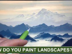 雲海がたちこめる山々の風景をiPadとApple Pencilで描く!