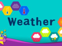 <Kids vocabulary> Weather, How's the weather?  -天気、天気はどう?