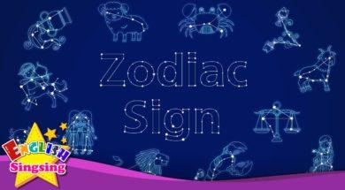 Zodiac sign <Kids vocabulary>