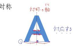【小学校6年算数 1-2】対称の軸と対応する点