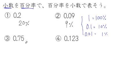 【小学校5年算数 10-2】小数の割合↔百分率