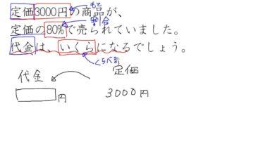 【小学校5年算数 10-3】百分率の文章題①