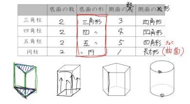 【小学校5年算数 12-6】角柱・円柱と面