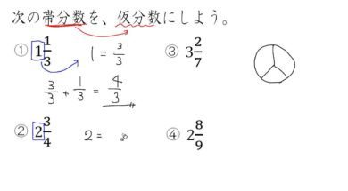 【小学校4年算数 13-4】帯分数を仮分数にする