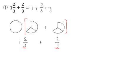 【小学校4年算数 13-6】分数の足し算(帯分数)