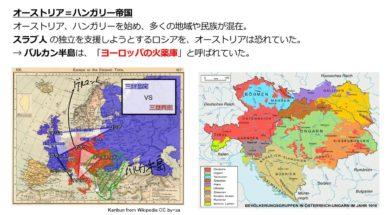 【中学校歴史コース 18-1】第一次世界大戦①背景 ヨーロッパの火薬庫