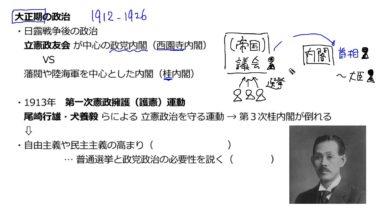 【中学校歴史コース 19-1】大正期の政治①