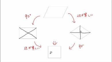 【中2数学 09-11】長方形、ひし形、正方形 問題