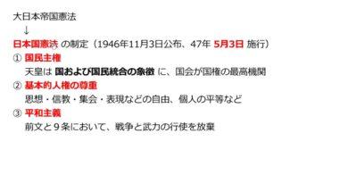 【中学校歴史コース 21-3】日本国憲法の制定