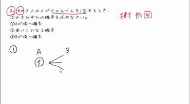 【中2数学 10-6】じゃんけんの確率