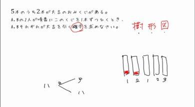 【中2数学 10-7】2本のくじの確率