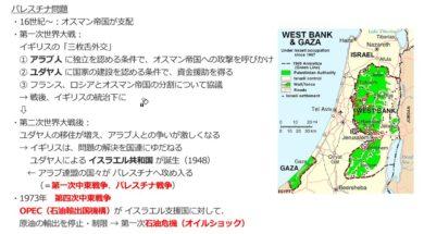 【中学校歴史コース 22-4】中東問題①パレスチナ問題
