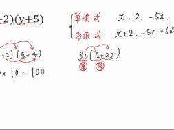 【中3数学 01-3】 (a+b)(c+d)の展開