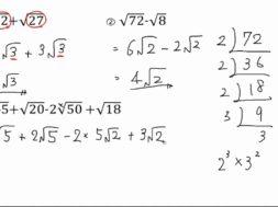 【中3数学 04-8】√の加法・減法
