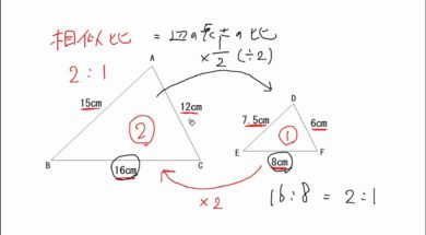 【中3数学 08-4】相似比