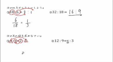 【中3数学 08-5】比の問題