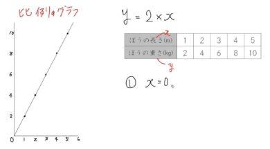 【小学校6年算数 7-6】比例のグラフ