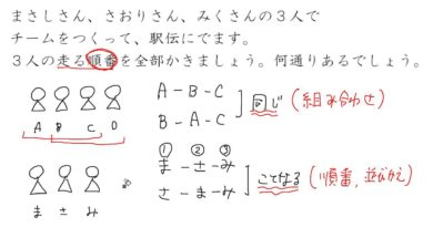 【小学校6年算数 9-4】場合の数:順番をきめる①
