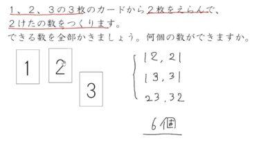 【小学校6年算数 9-6】場合の数:順番をきめる③(整数をつくる)