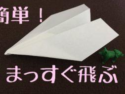 よく飛ぶ紙飛行機の折り方 まっすぐ飛ぶ!子供にも簡単!