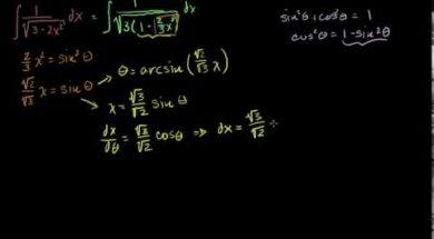 三角関数による置換積分法1