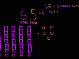 10 をひく時の位の値を理解する