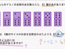 たし算の文章問題: 目の数