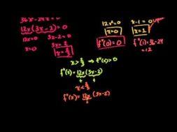 微積分学:導関数を使ってグラフを書く