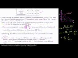 2011年微積分AB 記述式2(a)(b)