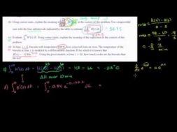 2011年微積分AB 記述式2(c)(d)