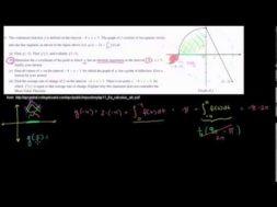 2011年微積分AB記述式4(b)