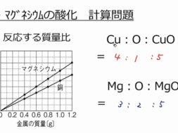 【中学2年・理科 13-3】金属の酸化 計算問題