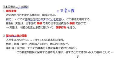 【公民02-3】日本国憲法の三大原則