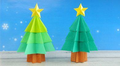 折り紙 立体クリスマスツリーの作り方