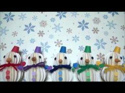 クリスマス飾り 雪だるまの作り方