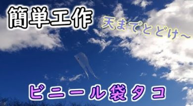 【簡単工作】ビニール袋凧~お正月の定番遊び!
