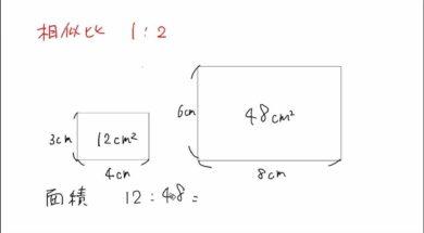 【中3数学 08-11】相似な図形の面積比