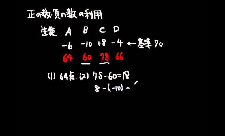正の数・負の数の利用 中学数学 1年