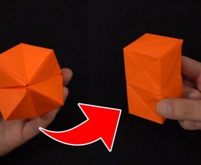 【一瞬で形が変わる】折り紙の折り方