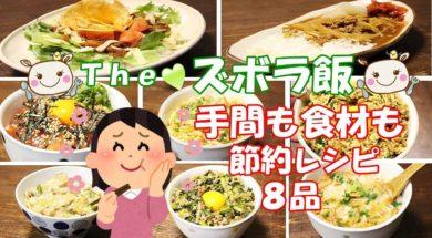 【ズボラ飯】節約も出来て簡単すぎる絶品レシピ♪【8品紹介】