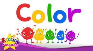 キッズ語彙 – 色 – 色の混合 – 虹色