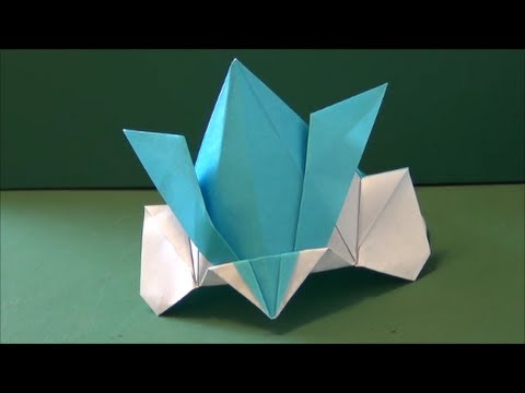 子どもの日かぶれる「かざり兜」立体折り紙