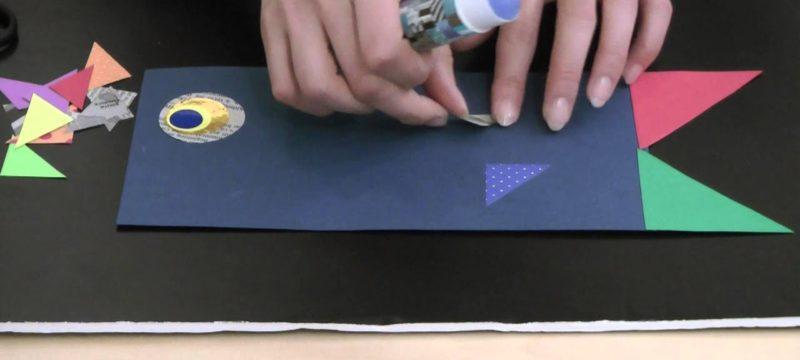 画用紙と折り紙でつくるこいのぼり